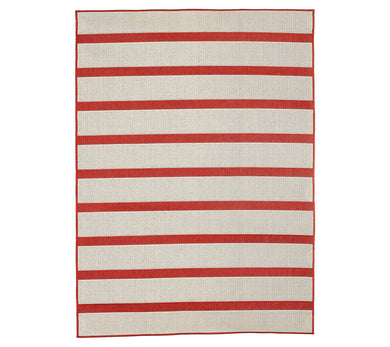 Tommy Bahama 7x10 Reversible Indoor/Outdoor Awning Stripe Rug - Midtown Bargains