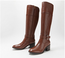 Marc Fisher Medium Calf Leather Tall Shaft Boots, Riley - Midtown Bargains
