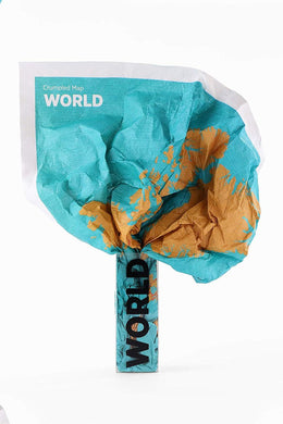 Crumpled World Map: Cities & Countries - Midtown Bargains