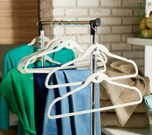 ClutterFree Set of 50 Universal Hangers With Cascading Hooks *** Color Seaglass
