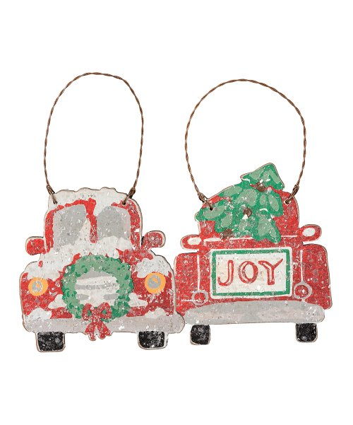 Truck Ornament, Set of 2 - Midtown Bargains