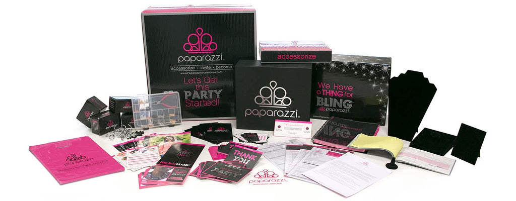 Paparazzi $499 Large Home Party Kit contents-jewelry-supplies to work from home. Team Cara. CarasShop.com