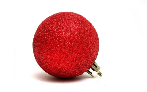 Red glitter cool trendy ornament