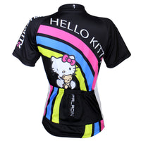 Cartoon World-HELLO KITTY - Jacket T-shirt Summer Spring Autumn Clothes Sportswear Pro Cycle Clothing Racing Apparel Outdoor Sports Leisure Biking T-shirt Black Kit - Women's Long/short-sleeve Cycling Suit/Jersey NO.025