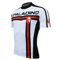 Red-striped White Cycling Jersey/suit for Men Summer  Biking T-shirt Kit 004