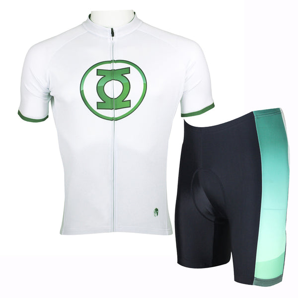 Green Lantern Detective Comics Super Hero Men's Short/Long-sleeve Cycling Jersey Jacket Bicycling Suit T-shirt Summer Spring Autumn Clothes Sportswear Cycle Racing NO.037