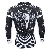 Men's Long-sleeved Jersey Spring Summer Black and White NO.077