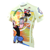 Popeye Spinach The Sailorman Cartoon World - Summer Spring Autumn Exercise Bicycling Pro Cycle Clothing Racing Apparel Outdoor Bicycling Sports Leisure Biking Shirts -Men's Long/Short-sleeve Jersey/Suit
