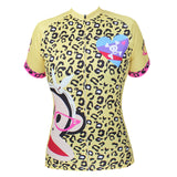 Pink-Glasses Big Mouth Monkey - Summer Clothes Summer Pro Cycle Clothing Racing Apparel Outdoor Sports Leisure Biking shirt Cartoon World Paul Frank -Woman's Short-sleeve Cycling Jersey NO.087