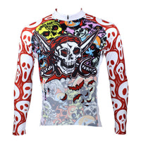 Pirate Skull Men's Short Sleeves/long-sleeve Cycling Jersey Sport Suit Biking Shirts 088