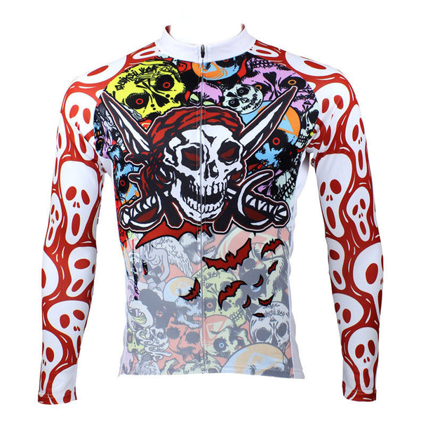 ILPALADINO Skull- Pro Cycle Clothing Racing Apparel Outdoor Sports Leisure Biking T-shirt Summer Spring Autumn- Men's Long Sleeves /short-sleeve Cycling Jersey/ Suit 088