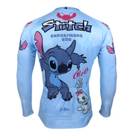 Lilo & Stitch - Spring Summer Sportswear Bicycling Pro Cycle Clothing Racing Apparel Outdoor Sports Leisure Biking T-shirt  Cartoon World -  Man's Short/long-sleeve Cycling Jersey NO.98