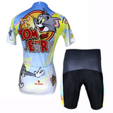 Tom And Jerry Cats and Mouses  Cartoon World Bike Shirt Bicycling Pro Cycle Clothing Racing Apparel Outdoor Sports Leisure Biking T-shirt Sportswear -Woman's Short/Long-sleeve Cycling Jersey/Suit  NO.099