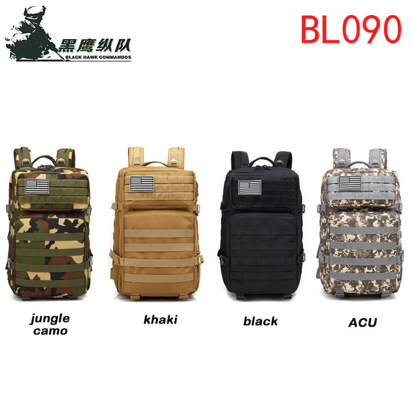 45L Backpack Multifunctional Shoulders Backpacking Bag Outdoor Sports Daypack for Traveling Hiking Climbing Cycling Mountaineering Camping Large Volume Capacity-BL090
