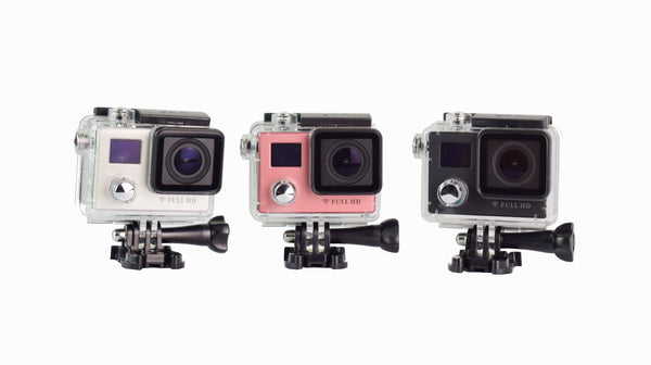 V12 1080P Action Camera Dual Screen Display Gyro RSC Underwater Waterproof 2 inch FHD Screen with Smart 2.4G Rechargeable Remote Control For Aerial Photograph Diving Cylcling Helmet Cam Wi-Fi Share FHD Sports DV