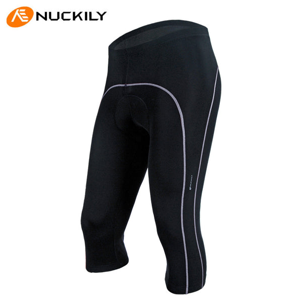 Mens Cycling Black 3/4 Pants Summer Spring Breathable Biking Bottom Tight NO.NS353