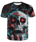 Skull on Hand Crewneck Men's Crewneck 3D Print Skull Short-sleeve Pullover Tracksuit  Sweater Sweatshirts Leisure Fashion Shirts Casual Clothes T-Shirt Top Tees NO.1257