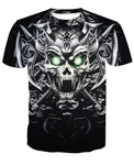 Skull Crewneck Men's Crewneck 3D Print Skull Short-sleeve Pullover Tracksuit  Sweater Sweatshirts Leisure Fashion Shirts Casual Clothes T-Shirt Top Tees NO.1324