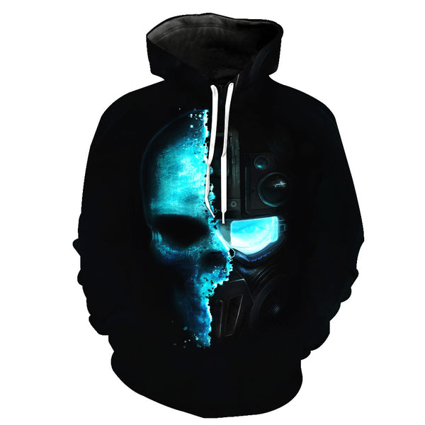 Wreckage Skull Hoodies Sweatshirt Funny 3D Print Long Sleeve Pullovers Tracksuit Leisure Fashion Hooded Shirts with Pocket Spring Autumn Casual Clothes NO.1349