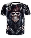 Shooter Crewneck Men's Crewneck 3D Print Skull Short-sleeve Pullover Tracksuit  Sweater Sweatshirts Leisure Fashion Shirts Casual Clothes T-Shirt Top Tees NO.1350