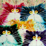 Art Painting Cute Cats Prints On Canvas Animal The Picture Decor Oil For Home Modern Decoration Print