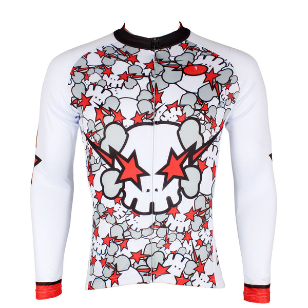 ILPALADINO Red Angry Skull - Biking Shirt Bike Sportswear Apparel Summer Apparel Outdoor Sports Gear Leisure Spring Biking T-shirt - Men's Long-sleeve/ Short-sleeveCycling Jersey 164