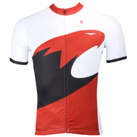 White and Red Eagle Cycling Men's Long-sleeved Jersey NO.172