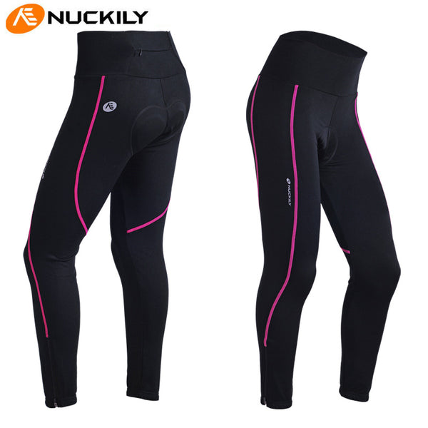 Simple Black Womens Cycling Pants  Outdoors Breathable Comfortable Bicycling Bottom Clothes Sports Wear UPF 50+ NO.GM001