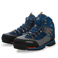 NO.8037 Mens Leather Outdoor High Shoes Hiking Climbing Running Sports Windproof Waterproof Sandproof