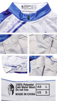 Blue Mens Long/short-sleeve Cycling Jersey with Patterns  NO.199