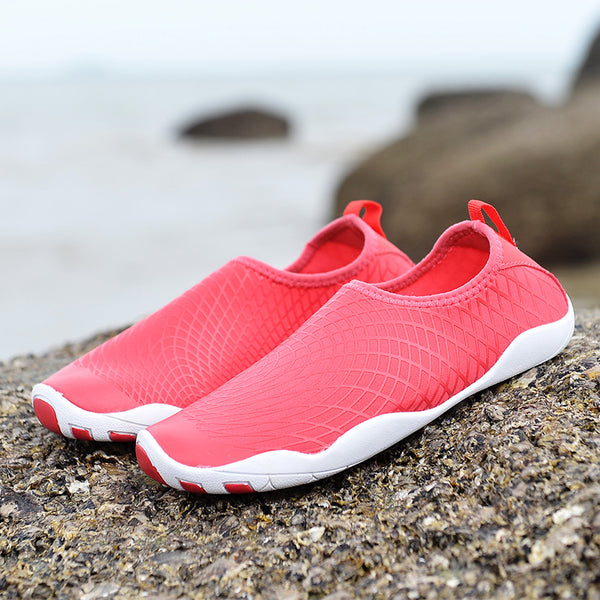 NO.1768  Rose/blue/black Couple Water Wading Shoes Beach Quick Dry Breathable Outdoor Pool Beach Swim Dive Surf  Run Exercise Slip-on Shoes For Women Men