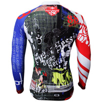Men's Hidden-Zipper Long-sleeve Cycling Jersey with Patterns Fall/Autumn  369