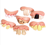 Hot Sale 5Pcs Funny Gift Costume Party Ugly Gag Fake Teeth FunnyFreaky Front Teeth Comfortable Wearing Party Game Accessory