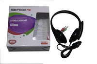 SENICC S2000 3.5mm Stereo Headset Wired Headphones  Headset with Mic for Laptop Computer, Cellphone, PS4 and son on - Volume Control for Call & Music&Game