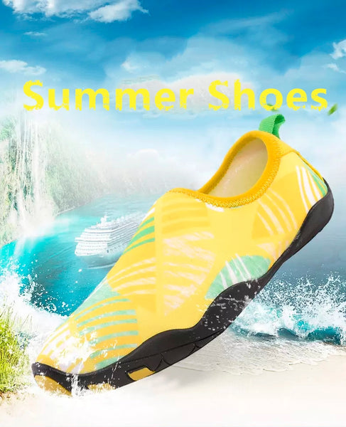 NO. 1719 Yellow/Pink/Blue/Grey Summer Women's Men's Beach Shoes Lightweight Quick-dry Sneaker Elastic