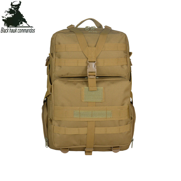 45L Large Volume Capacity 3D Tactical Backpack Army Military Fans Equipment Shoulders Bag Outdoor Waterproof Sports Backpack Travel and Hiking  -BL068