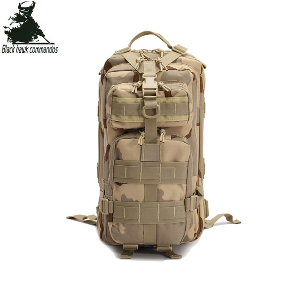 35L Tactical Shoulders Backpack Laptop Backpack Shoulders Backpacking Bag Outdoor Travel Sports Daypack for Hiking Climbing Cycling Camping Camo - BL007