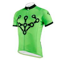 Chain Green Men's Cycling Jersey Biking T-shirt NO.625