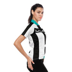 Green-collor Black-strip White Women's Cycling Short-sleeve Bike Jersey T-shirt Summer Top NO. 786