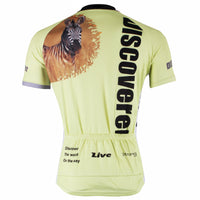 Roaring Wild Lion Grasslands Prey Zebra Men's Long/Short-sleeve Cycling Bike jersey T-shirt Summer  NO.305