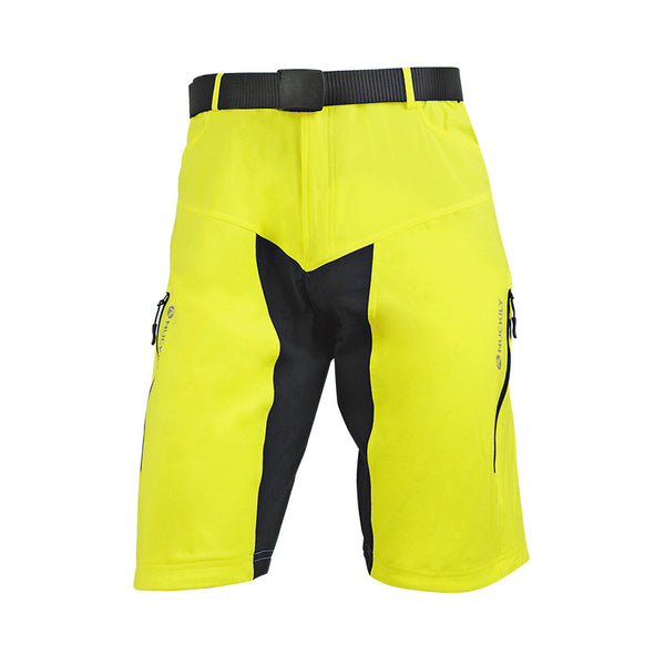 Yellow/Blue Summer Mens Cycling Short MTB Bike Bicycle Pants Quick Dry Lightweight Loose-Fit Baggy with Zip Pockets NO. MK004