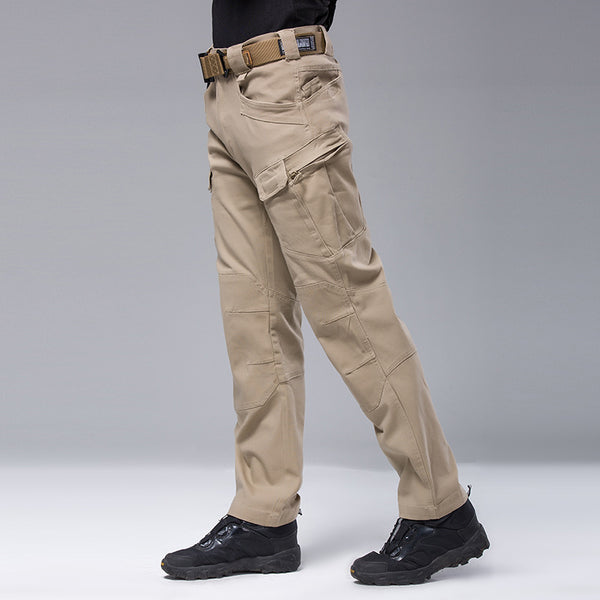 NO.B252 ESDY Consul Men's Outdoor Cargo Pants Quick Dry Antifouling Cotton Elastic Straight-leg slacks for Travel Hiking Climbing Training