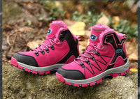 NO.8012 Couple Winter Hiking High Shoes Thermal Cotton Outdoor Adventure Mountaineerin Cross-country Waterproof Anti-skidding For Women Men