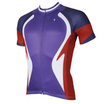 Funnel Purple Cycling Short-sleeve Jersey Bicycling Shirts NO.523
