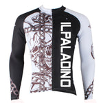 ILPALADINO Chain Up Skull- Bike Shirt Sportswear Quick Dry Apparel Outdoor Sports Gear - Men's Summer Cycling Long-sleeve / Short-sleeve Jersey NO.296