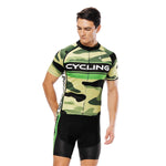 CYCLING Letter Green Camo Men's Cycling Short-sleeve Jersey/Suit Summer Kit NO.815