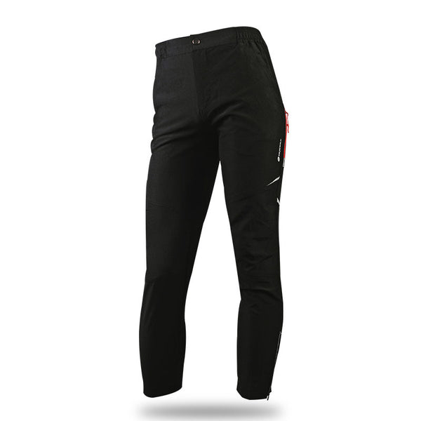 Mens Simple Black Cycling Pants Reflective-rim Loose Bicycling Sports Trouser NO.MM005