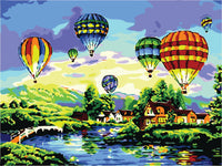 Diy Oil Painting Paint by Number Kit for Adults Boys Girls Kids Gifts(Hot Air Balloon)