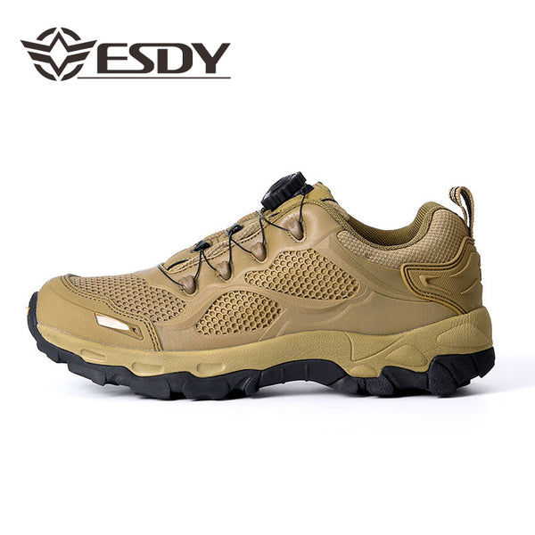 ESDY Mens Outdoor  Hiking Sports Tactics Shoes Breathable Auto-buckle Tie Quick-Reaction Boots NO.C206