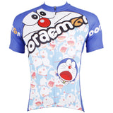Doraemon Cartoon World - Bike Shirt Black Breathable Quick Dry Apparel Outdoor Sports Gear Professional - Short-sleeve Men's Cycling Jersey NO.530